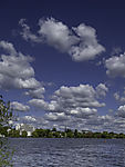 clouds over lake Alster