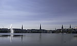 panorama at lake Binnenalster
