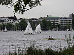 water sports on lake Alster