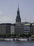 Jungfernstieg and Townhall in Hamburg