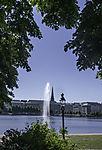 fountain on lake Binnenalster