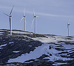 windpark on island Kvalöya