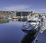 leisure boats in Tromso harbour