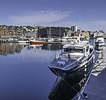 Sportboote im Hafen von Tromsö