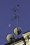 Mond und Antennen