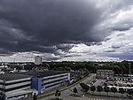 dunkle Wolken über Kiel