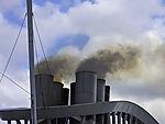 Schiffsabgase über Langelandsbelt