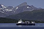 gasbetriebener Frachter Samskip Kvitnos bei Tromsö
