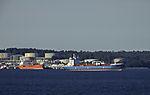 Tanker an Raffinerie am Oslofjord