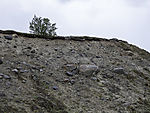 Erosion an Moräne im Saltfjellet