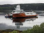 Frachter liefert Fischfutter