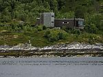 modern house at Tysfjorden