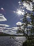 summer sun over lake Storvatnet