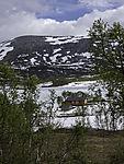 cabin at lake Tennvatnet