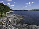 bathing at Trondheimsfjorden