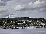 houses at Larvik harbour
