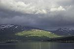 sunshine on mount Rundfjellet