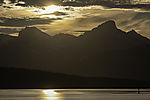 evening sun over island Kvalöya
