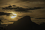 evening sun at mount Store Blaamannen