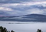 small island Grindöya in mist
