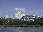 summer clouds over mount Tromsdalstinden