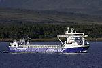 Lachsfutter Transportschiff Rubin