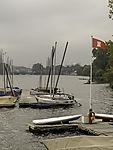 Liegeplatz für Segelboote an der Alster