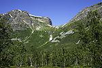 mount Storfjellet in Breivik valley