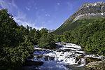 rapids at mount Lavangstinden