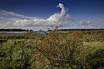 cumulonimbus clouds over island Bock