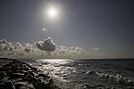 sun over sea west for island Hiddensee