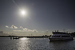 sun over Kloster harbour