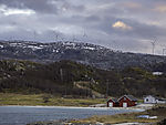wind park Kvitfjell on island Kvalöya