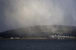 Schneeschauer über Insel Haaköya