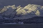 verschneite Inseln Haaköya und Kvalöya