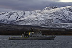 norwegian coast guard Nordkapp off island Kvalöya