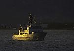 norwegian coast guard Nordkapp in sun light