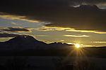 Sonnenuntergang über Malangen