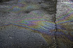 oil pollution on road