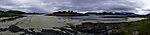 beach in northern Norway panorama