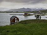 boat houses on island Hillesöy