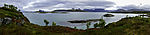 seascape in northern Norway panorama
