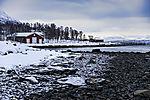 Schnee im Folkeparken von Tromsö