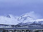 Schneetreiben auf den Bergen