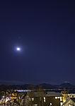 Winternacht mit Mond und Mars