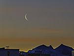 Mondsichel über Bentsjordtinden