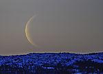 Mondsichel über Kvalöya
