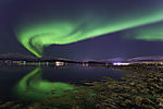 aurora torch with reflection