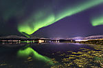 aurora with reflection