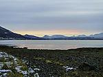 Polarnacht in Mittagszeit an Südspitze von Tromsö